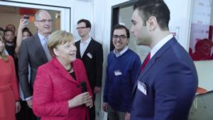 Klöckner CSR Portrait Video Rami trifft Kanzlerin