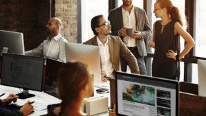 Office CorporateTube on screen