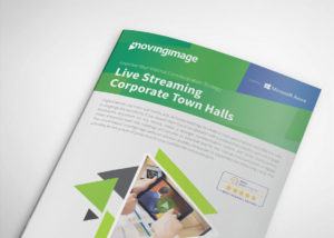 Live streaming corporate town halls flyer