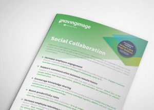 Social collaboration flyer