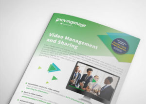 Video management and sharing flyer
