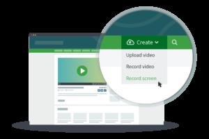 CorporateTube video screen recording menu